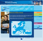 Study in Europe - English Interface